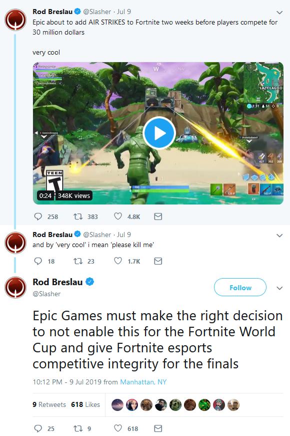 Mening Rod Breslau over Epic Games nieuwste item: Air Strike