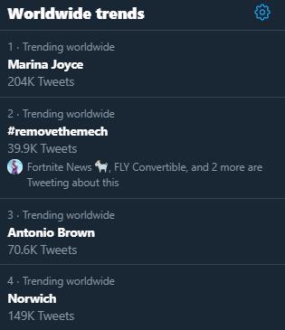 hashtag removethemech gaat viraal
