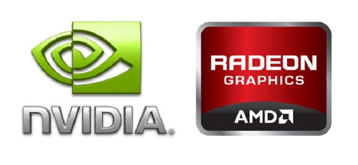 Nvidia en Radeon logo