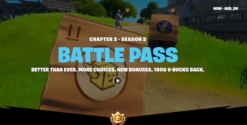 Epic Games Fortnite Battle Pass 29 april