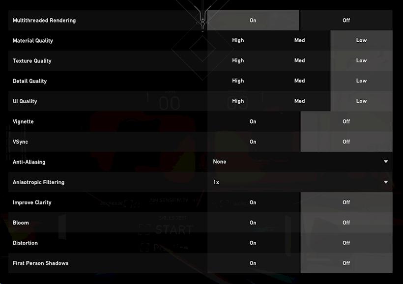 Valorant FPS Settings