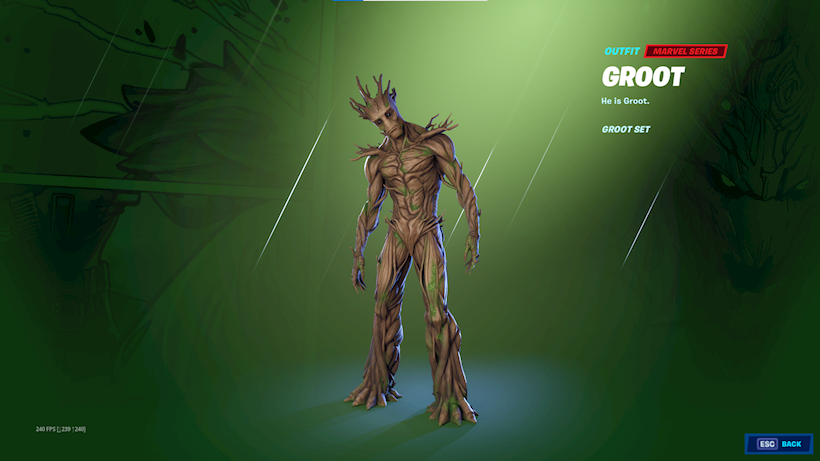 Groot Fortnite Season 4