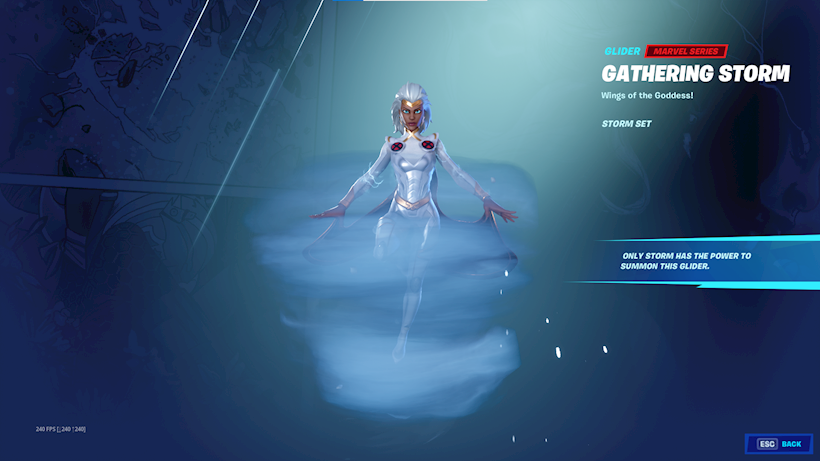 Gathering Storm glider Fortnite Season 4