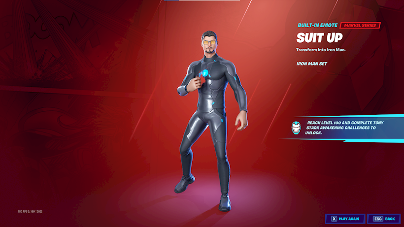 Tony Stark Iron Man Fortnite Season 4
